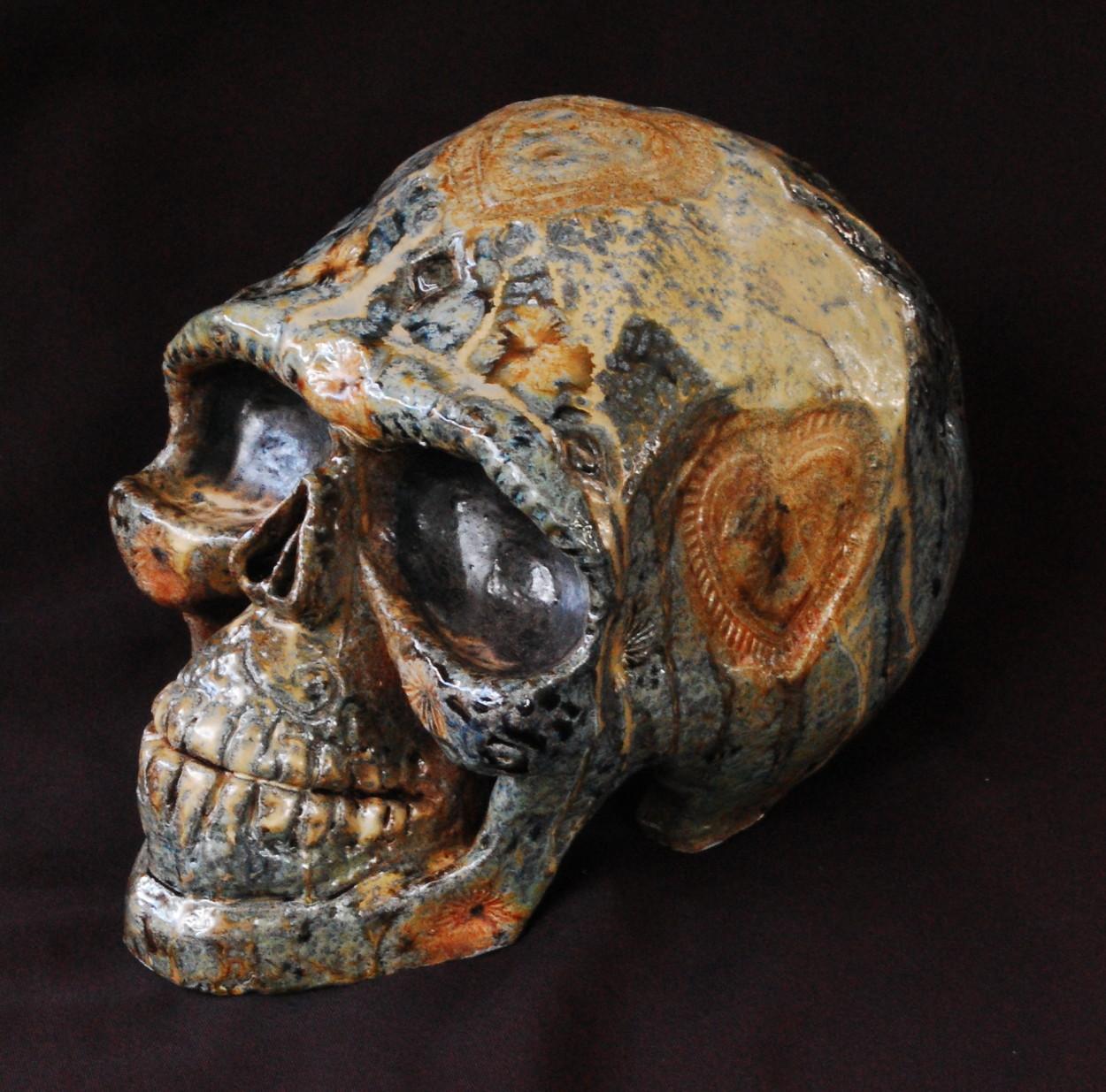 Dia De Los Muertos Skull (Lifesize) ceramic 2013