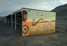 Mural for The Painted Desert Project, located at US89/160 jct Navajo Reservation 2015
