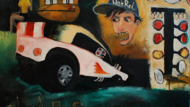 """Street Racer 24""""x 18"""" oil on canvas 2019"""